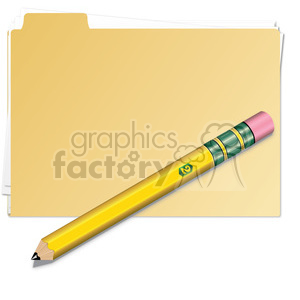 folder with pencil clipart. Royalty-free image # 385538