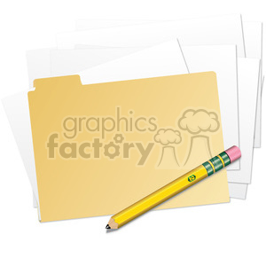 clip-art folder and files clipart. Royalty-free image # 385558