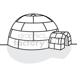 vector igloo clipart. Royalty-free image # 385578