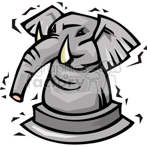 cartoon Republican pawn clipart. Commercial use image # 385610