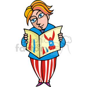 Democrat man reading a pamphlet  clipart. Royalty-free image # 385612