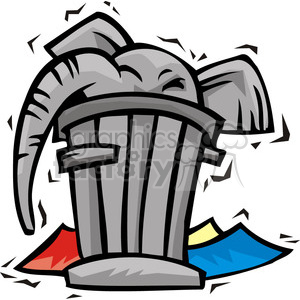 Republican cartoon of a elephant in a trash can clipart. Commercial use image # 385613