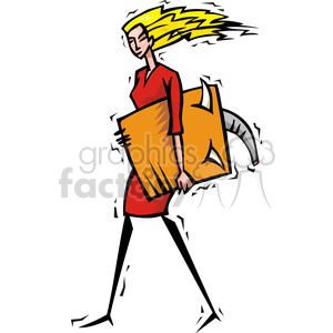 Republican women holding documents clipart. Royalty-free image # 385617
