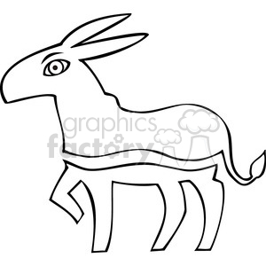 black and white Democrat donkey image clipart. Royalty-free image # 385622