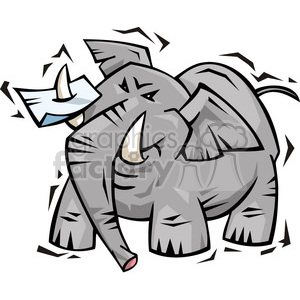 Republican elephant cartoon clipart. Royalty-free image # 385628