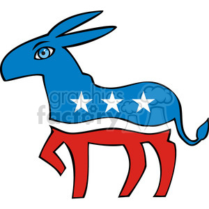 Democrat donkey cartoon clipart. Royalty-free image # 385634