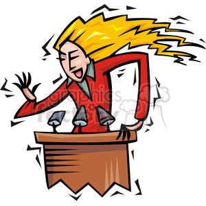women speaking at a podium clipart. Royalty-free image # 385635