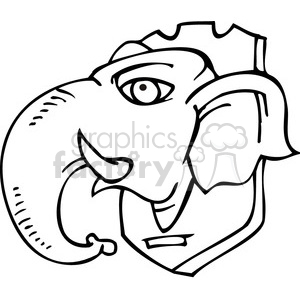 Democrat statue of a Republican elephant head on a plaque clipart. Commercial use image # 385643