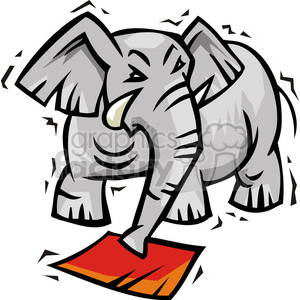 Republican elephant clipart. Royalty-free image # 385644
