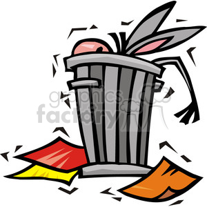Democrat image of a donkey in a trash can clipart. Commercial use image # 385662