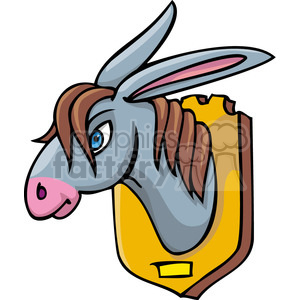Republican statue of a donkey head on a plaque  clipart. Royalty-free image # 385663