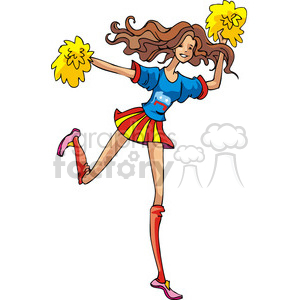 Republican cheerleader clipart. Commercial use image # 385665