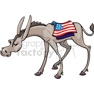 Democrat donkey mascot clipart. Commercial use image # 385686