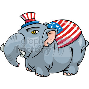 Republican mascot character clipart. Royalty-free image # 385690