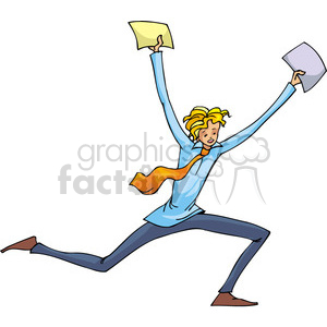Republican man holding documents up clipart. Commercial use image # 385691