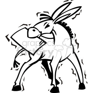 black and white Democrat cartoon clipart. Royalty-free image # 385700