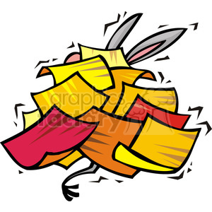 Democrat donkey buried in a stack of papers clipart. Royalty-free image # 385706