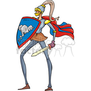 Republican dressed in a knight suit clipart. Commercial use image # 385708