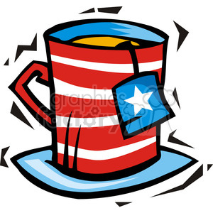 American cup of politics clipart. Royalty-free image # 385711