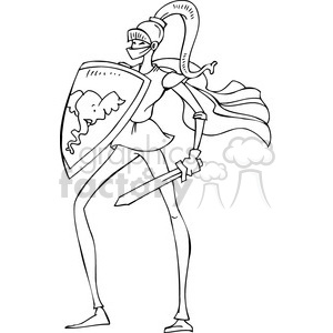 black and white image of a Republican dressed as a knight clipart. Commercial use image # 385718