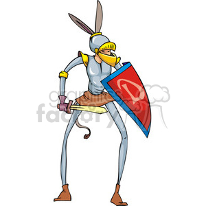 Democrat knight with donkey ears clipart. Commercial use image # 385733