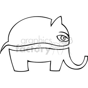 black and white Republican cartoon clipart. Commercial use image # 385734