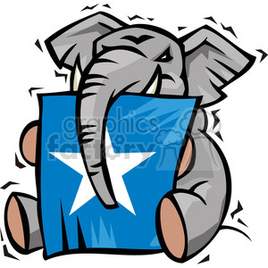 Republican elephant mascot clipart. Commercial use image # 385735