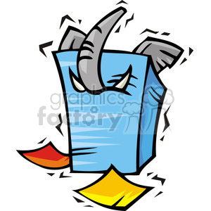 Republican stuck in documents clipart. Royalty-free image # 385736