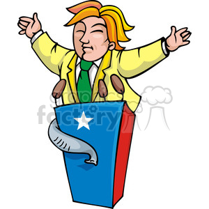 Republican at the podium clipart. Royalty-free image # 385741