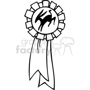 black and white Democrat ribbon clipart. Commercial use image # 385745