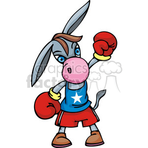 politics elections Government Democrat political liberals donkey fight boxer politician boxer debate democracy cartoon