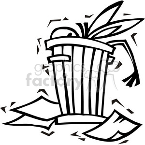 black and white Democrat donkey in a trash can clipart. Royalty-free image # 385747