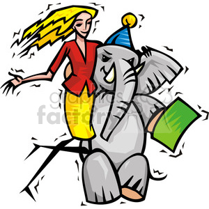 female Republican supporter clipart. Commercial use image # 385752