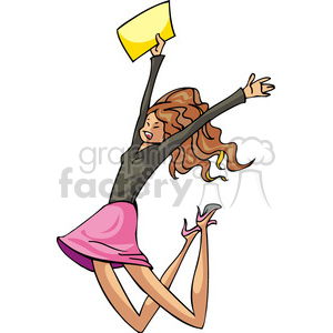 excited Democrat female clipart. Royalty-free image # 385753