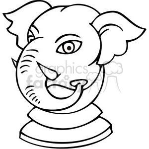 black and white Republican game piece clipart. Royalty-free image # 385761