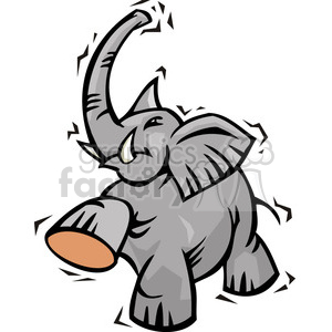 Republican elephant character clipart. Royalty-free image # 385762