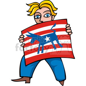 Democrat man clipart. Commercial use image # 385763