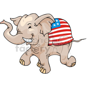 Republican elephant mascot clipart. Commercial use image # 385773
