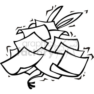 Democrat donkey buried under a pile of papers clipart. Commercial use image # 385785