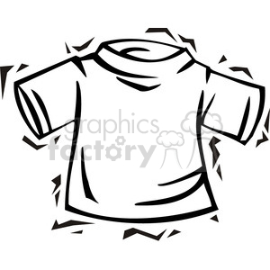 black and white t-shirt clipart. Commercial use image # 385787