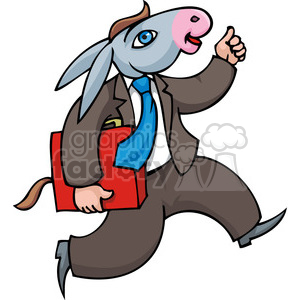 Democratic man dressed in a donkey suit clipart. Royalty-free image # 385799
