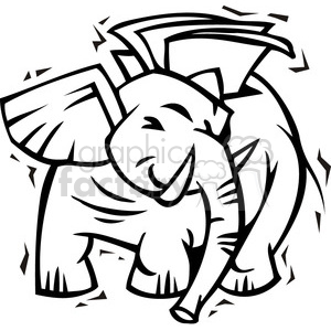 black and white Republican cartoon clipart. Royalty-free image # 385804