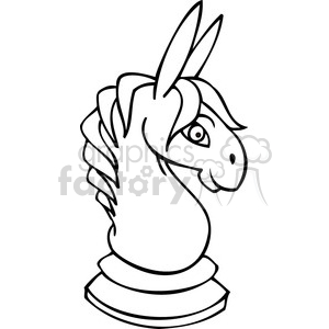 black and white Democrat game piece clipart. Royalty-free image # 385805