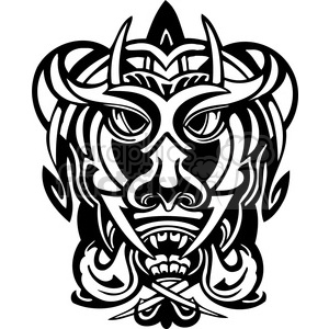 ancient tiki face masks clip art 002 clipart. Royalty-free image # 385824
