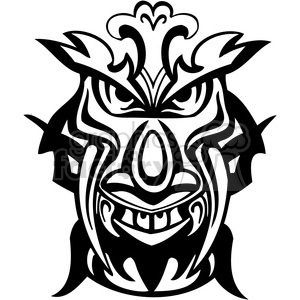 ancient tiki face masks clip art 030 clipart. Royalty-free image # 385833