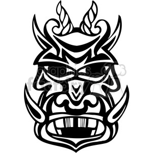 ancient tiki face masks clip art 025 clipart. Royalty-free image # 385852