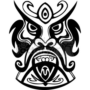 ancient tiki face masks clip art 013 clipart. Royalty-free image # 385861