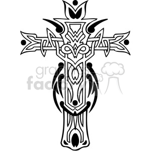 cross clip art tattoo illustrations 020 clipart. Royalty-free image # 385869