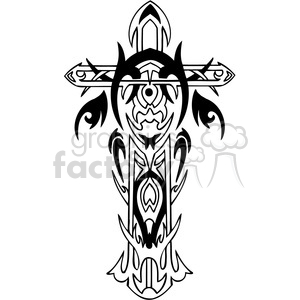 cross clip art tattoo illustrations 013 clipart. Royalty-free image # 385879