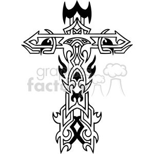 cross clip art tattoo illustrations 035 clipart. Royalty-free image # 385889
